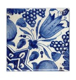 Kühlschrankmagnet, Delfter blaue Fliese, Diagonale Tulpe