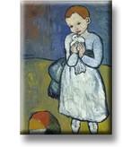 Kühlschrankmagnet, Kind mit Taube, Picasso