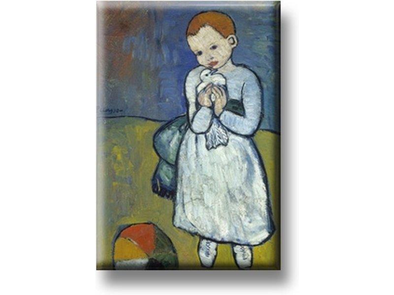 Aimant de réfrigérateur, enfant avec colombe, Picasso