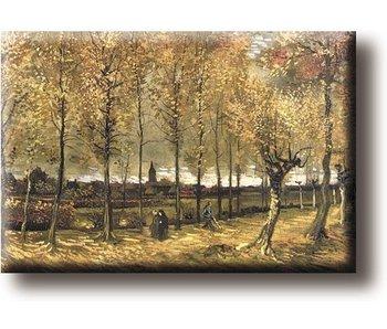 Aimant pour réfrigérateur, The Poplar Avenue près de Nuenen, Van Gogh