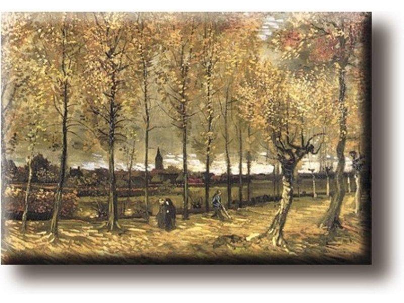 Kühlschrankmagnet, The Poplar Avenue in der Nähe von Nuenen, Van Gogh