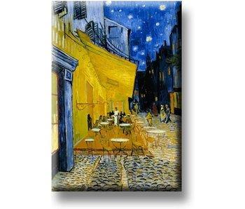 Magnet de réfrigérateur, terrasse de café la nuit, Van Gogh