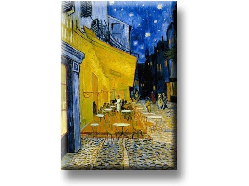 Magnet por frigo,  terrasse de café la nuit, Van Gogh