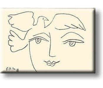 Aimant pour réfrigérateur, Visage de la paix, Picasso