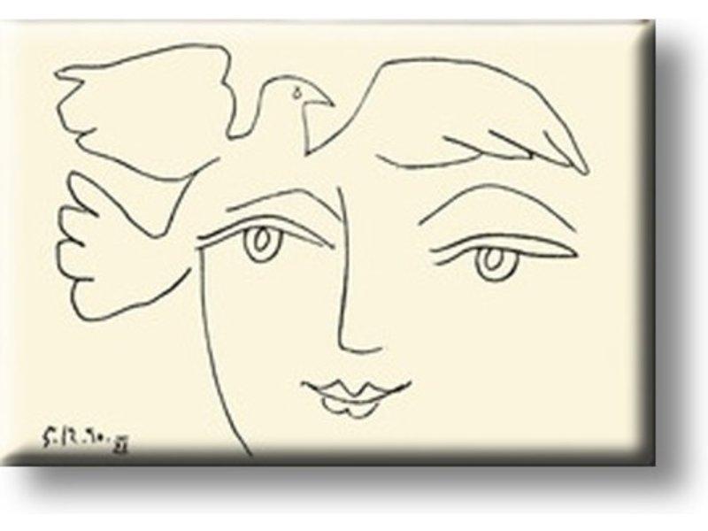 Kühlschrankmagnet, Gesicht des Friedens, Picasso