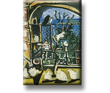 Koelkastmagneet, Duiven, Picasso