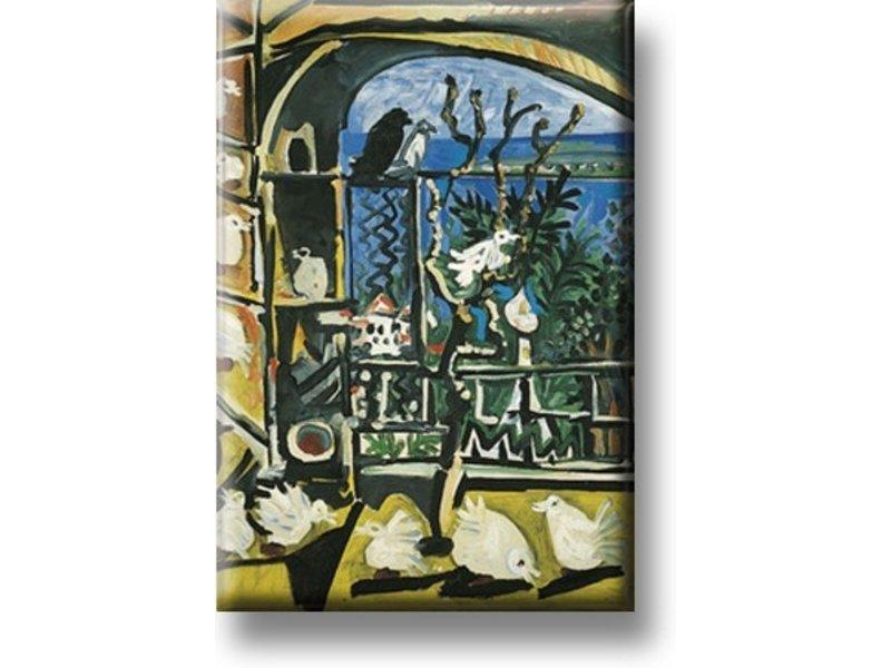 Magnet de réfrigérateur, Pigeons, Picasso