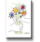 Koelkastmagneet, Boeket met handen, Picasso