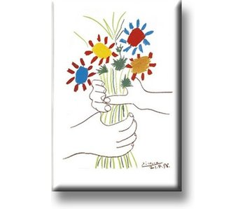Fridge Magnet, Bouquet with hands, Picasso