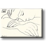 Kühlschrankmagnet, schlafende Frau, Picasso