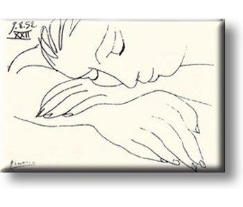 Magnet pour réfrigérateur, femme endormie, Picasso
