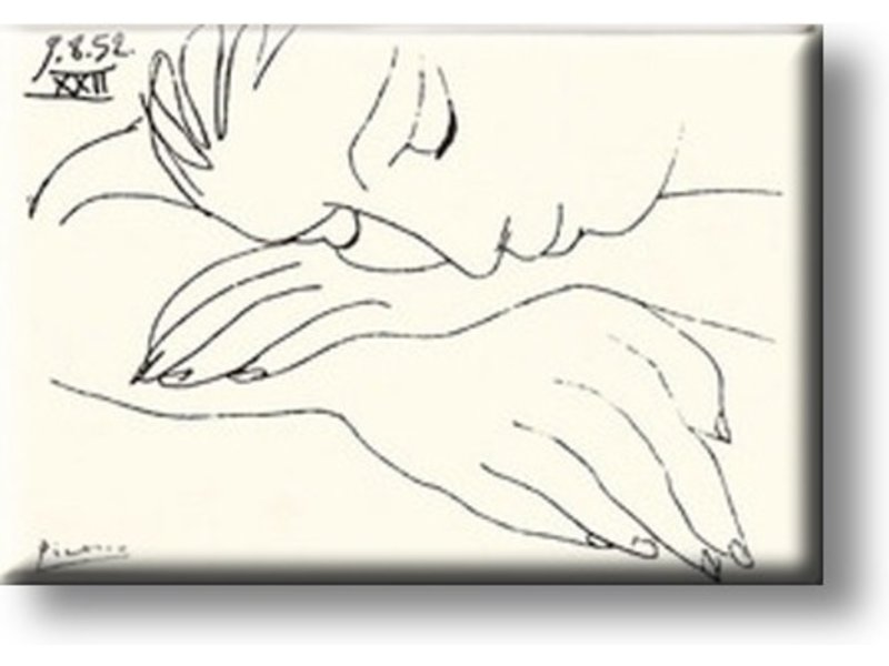 Koelkastmagneet, Slapende vrouw, Picasso
