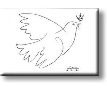 Kühlschrankmagnet, Die Taube, Picasso