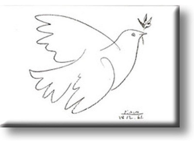 Koelkastmagneet, De duif, Picasso