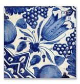 Postkarte, Delft Blue Tile Diagonal Tulipip