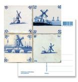 Postkarte, Delfter Blauer Fliesen Tableau Mills