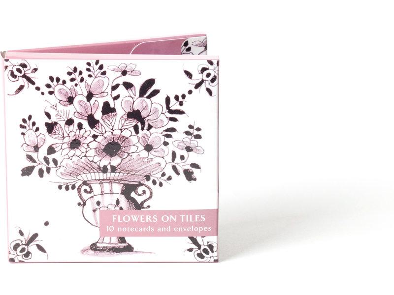 Porte-cartes, fleurs sur carreaux, Fitzwilliam-SN07