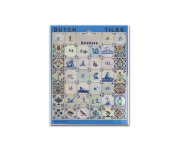 Stickersheet, Delft Blue Tiles