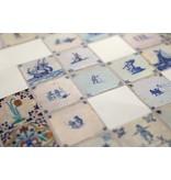 Stickervel, Delfts blauwe tegels