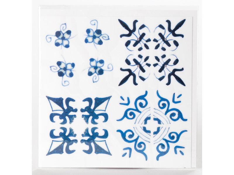 Fliesenaufkleber, Delfter blaue Flieseneckenmotive