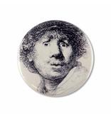 Taschenspiegel, Ø 60 mm, Neugieriges Gesicht, Rembrandt