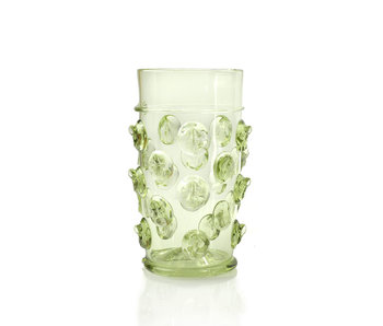 Vidrio, tocón de repollo (recto) 15 cm, verde