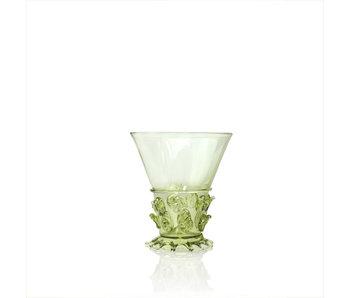 Historical glass, Berkemeier, 10 cm, green