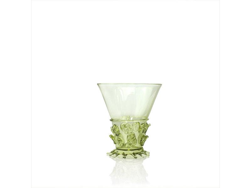 Historical glass, Berkemeier, 10 cm, green, green P27