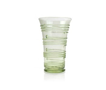 Glass ,Lintwormbeker, 15 cm, groen
