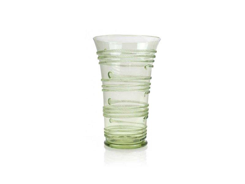 Glas, Bandwurmbecher, 15 cm, grün
