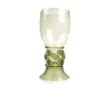 Historisch glas, Roemer, 20 cm, groen
