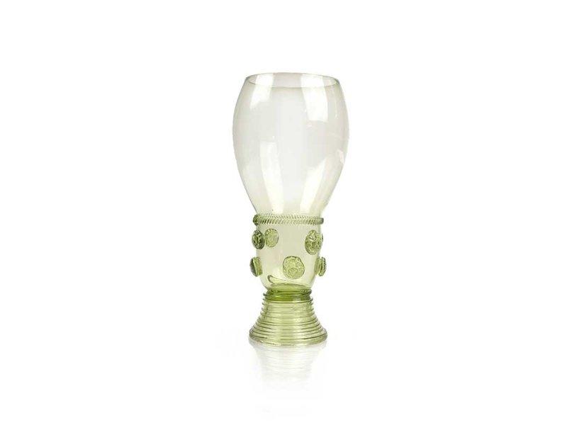 Historisches Glas, Roemer, 17 cm, grün P46