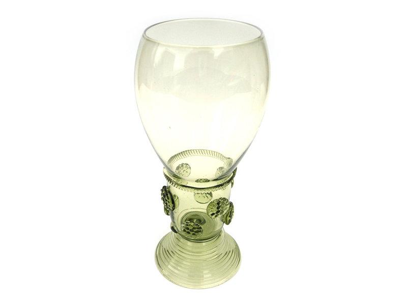 Historisch glas, Roemer, 17 cm, groen P46