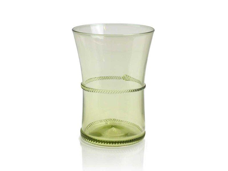 Glass, Fern glass 9 cm, green