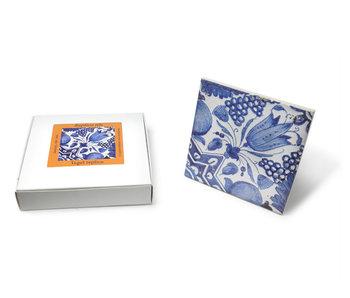 Replica azulejo, Delft Blue, Diagonal Tulip 13x13 cm