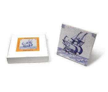 Replica azulejo, Delft azul, mercante 13x13 cm