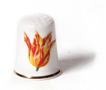 Fingerhut, Rot mit gelber Tulpe, Marrel