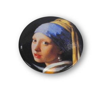 Miroir de poche, 60 mm, fille à la boucle d'oreille perle, Vermeer
