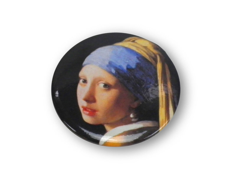 Taschenspiegel, 60mm, Mädchen mit dem Perlenohrring, Vermeer