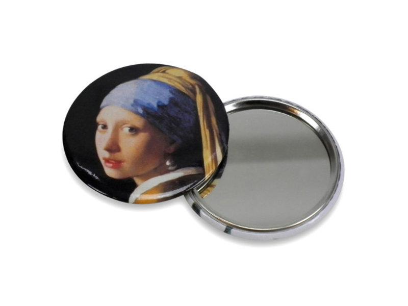 Spiegeltje , Ø 60 mm ,Meisje met de parel