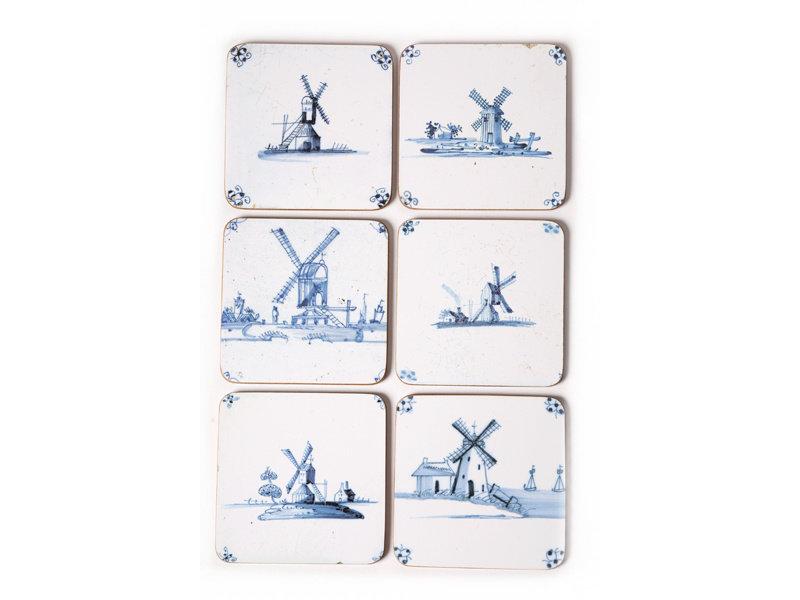 Onderzetters, Delfts blauwe tegels Molens