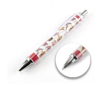 Foto pen , Twee tulpen met insecten , Marrel