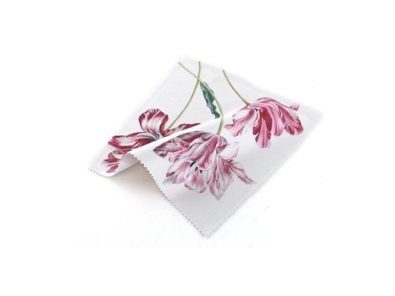 Linsentuch, 15 x 15 cm, drei Tulpen, Merian