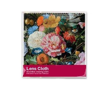 Paño de lente, 15x15 cm, Bodegón con flores, De Heem
