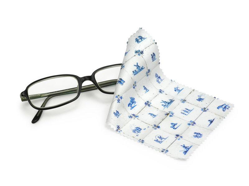 Brillendoekje, 10 x 15 cm, Delfts blauw, Tegels