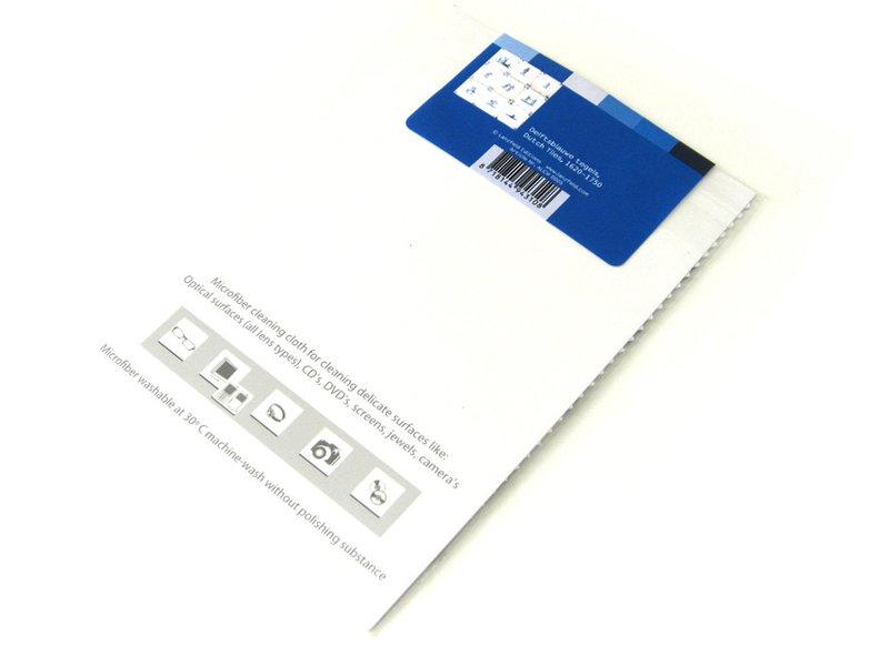 Tissu pour lentilles, 10 x 15 cm, Bleu de Delft, Carrelage