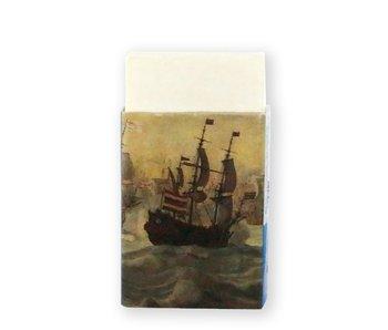 Goma de borrar, reunión de barcos en el mar, Van de Velde