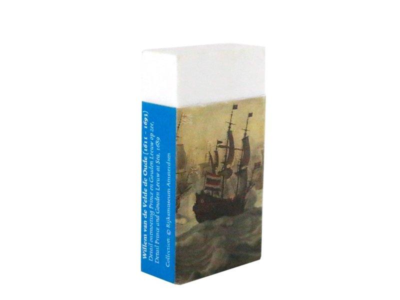 Eraser, Ships meeting at sea, Van de Velde