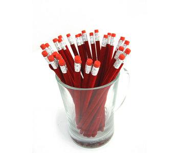 Display van glas voor fluwelen potloden