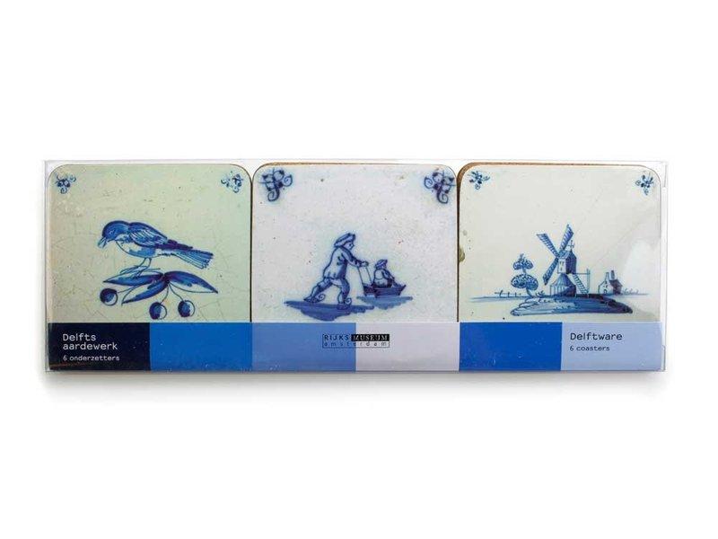 Coasters, Delft Blue Tiles Varia